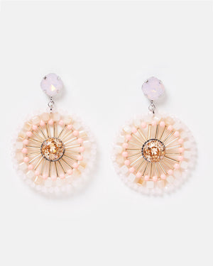 Izoa Sea Daisy Earrings Pink