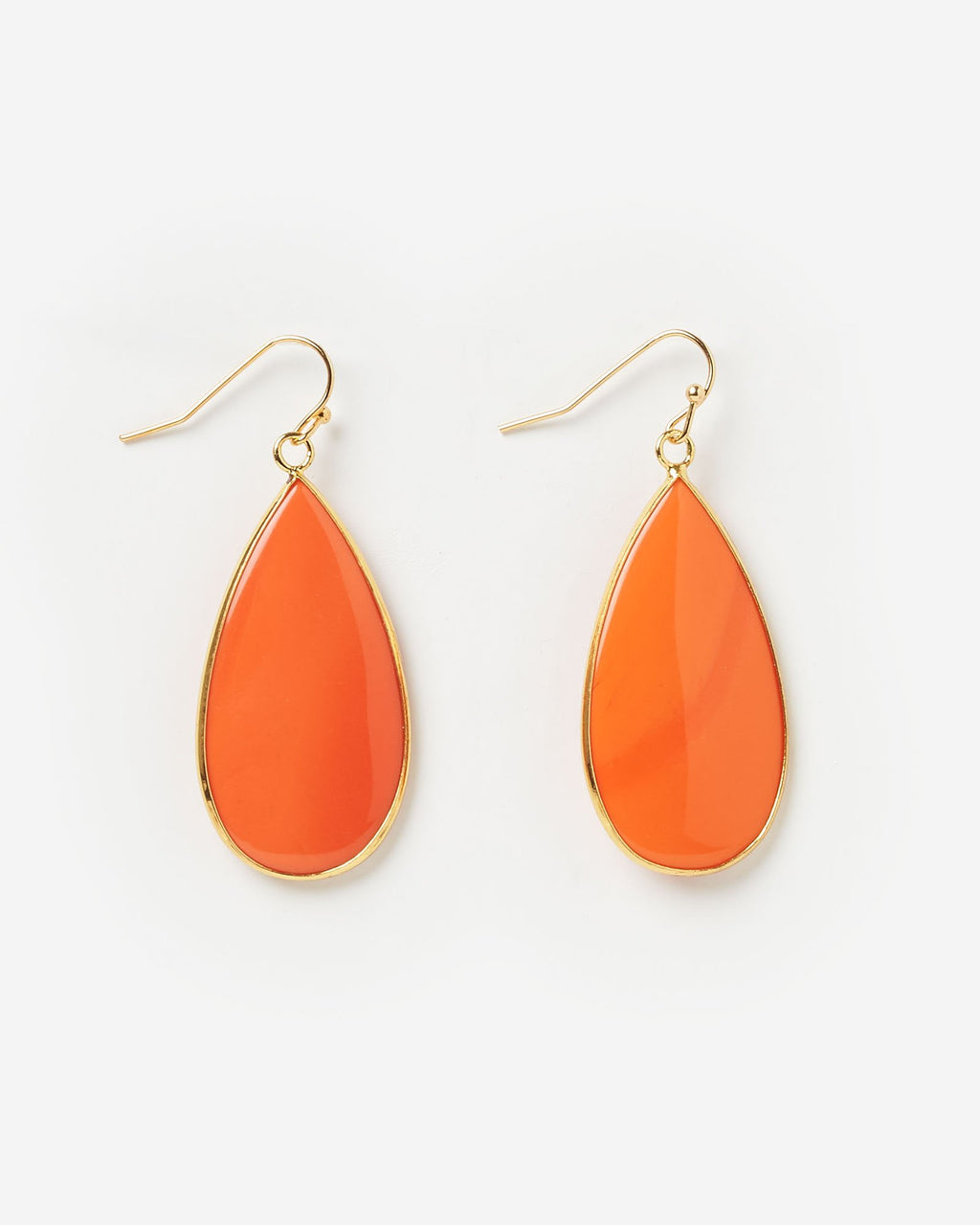 Miz Casa & Co Sea Petal Earrings Orange Gold