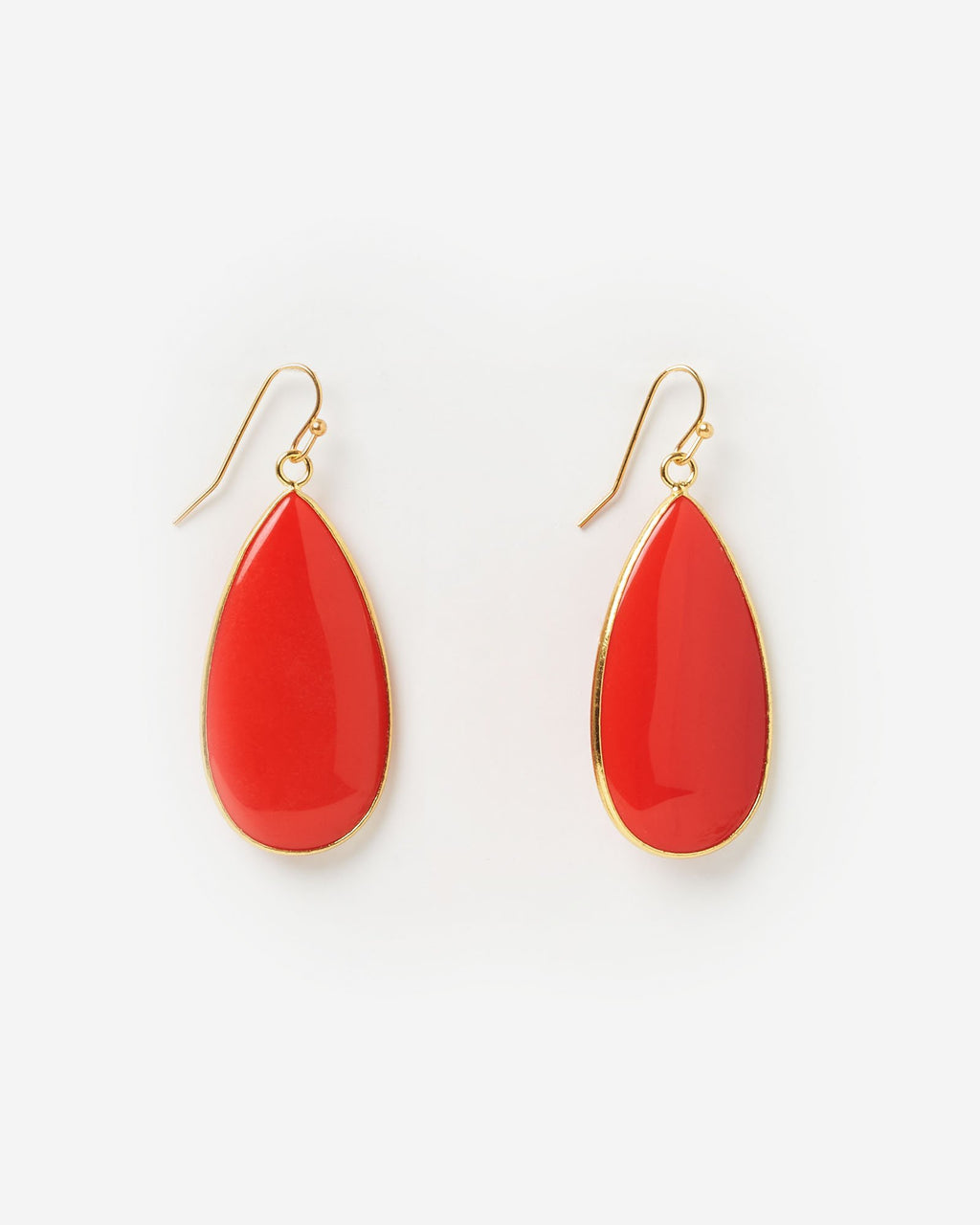 Miz Casa & Co Sea Petal Earrings Red Gold