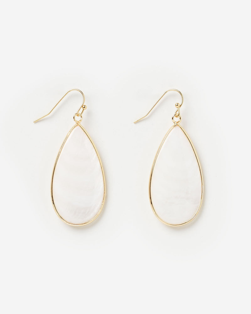 Miz Casa & Co Sea Petal Earrings White Gold