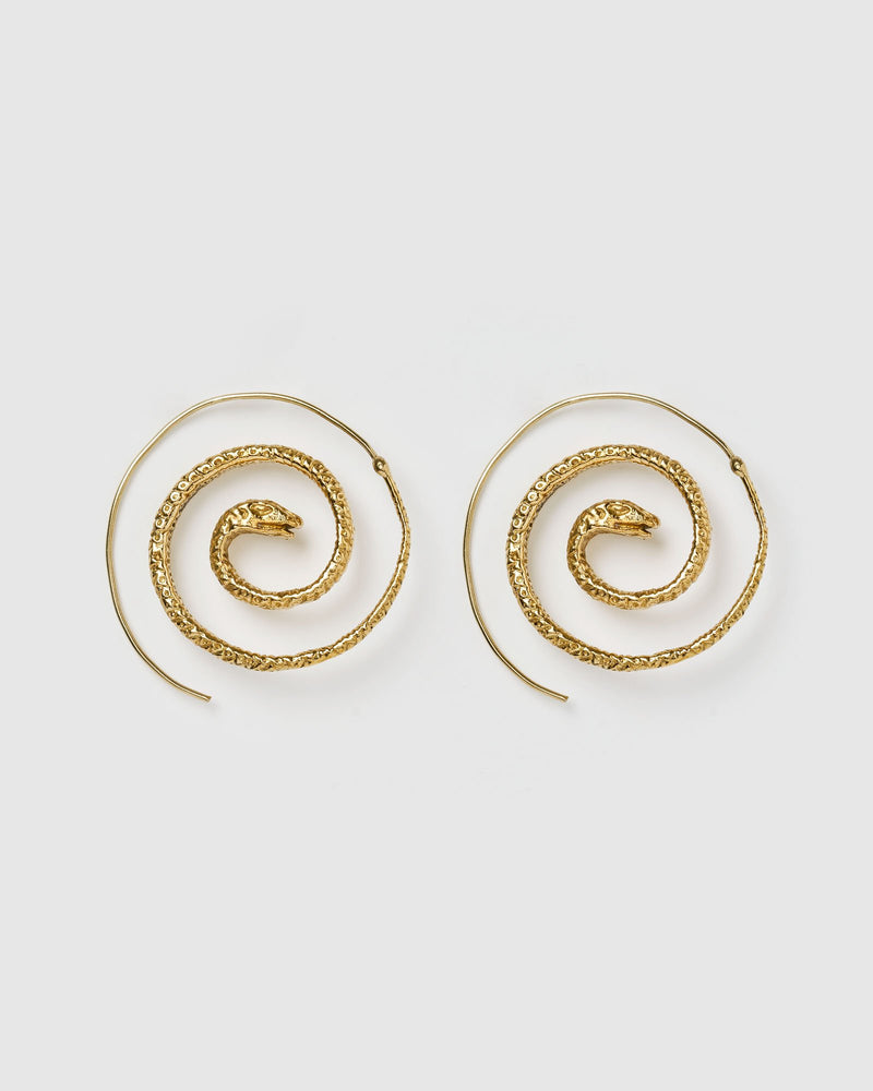 Miz Casa & Co Serpent Earrings Antique Gold