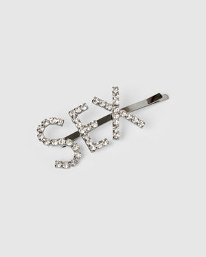 Izoa Sex Hair Pin Gunmetal Clear