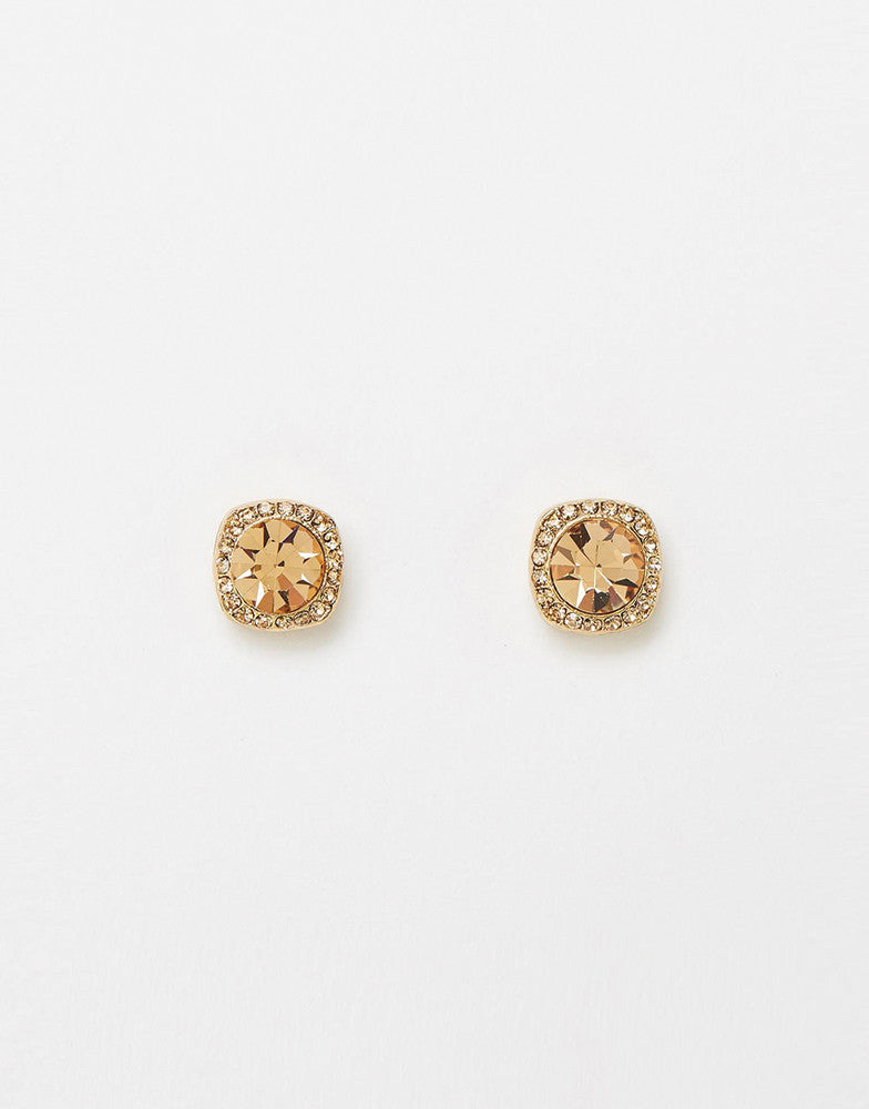 Izoa Shine Stud Earrings Gold