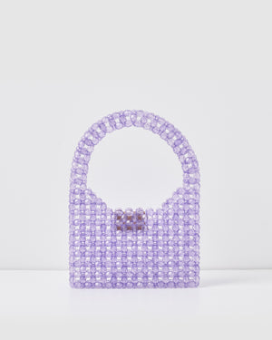 Izoa Kids Sia Beaded Handbag Purple