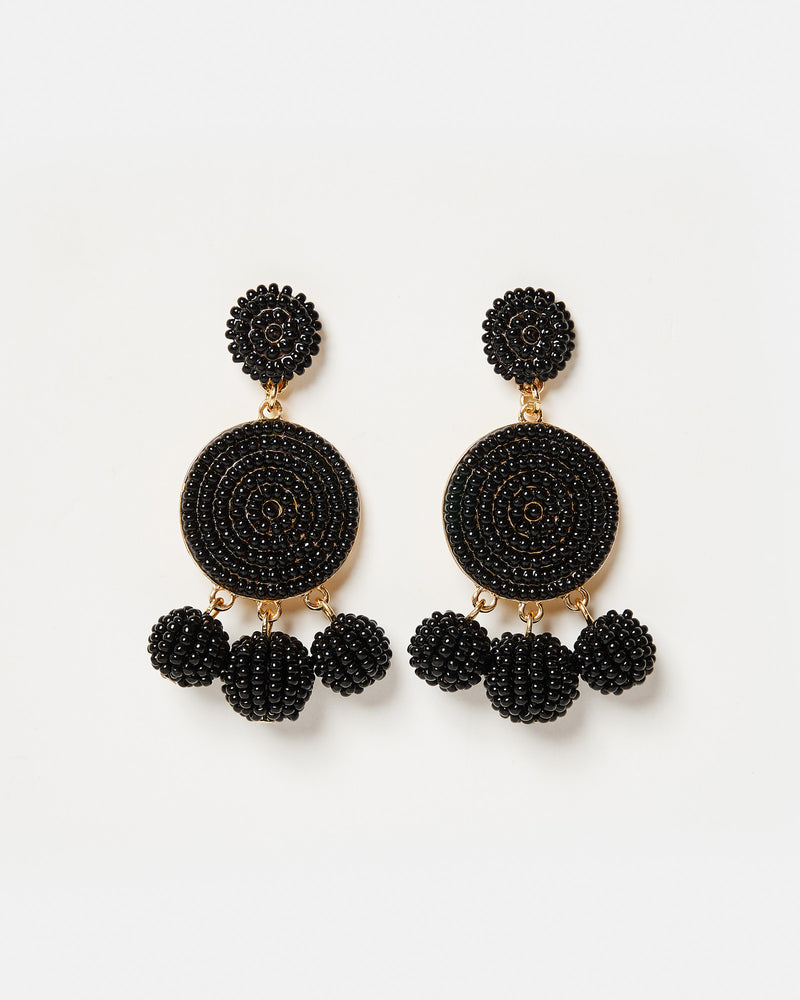 Izoa Sonata Earrings Black Gold