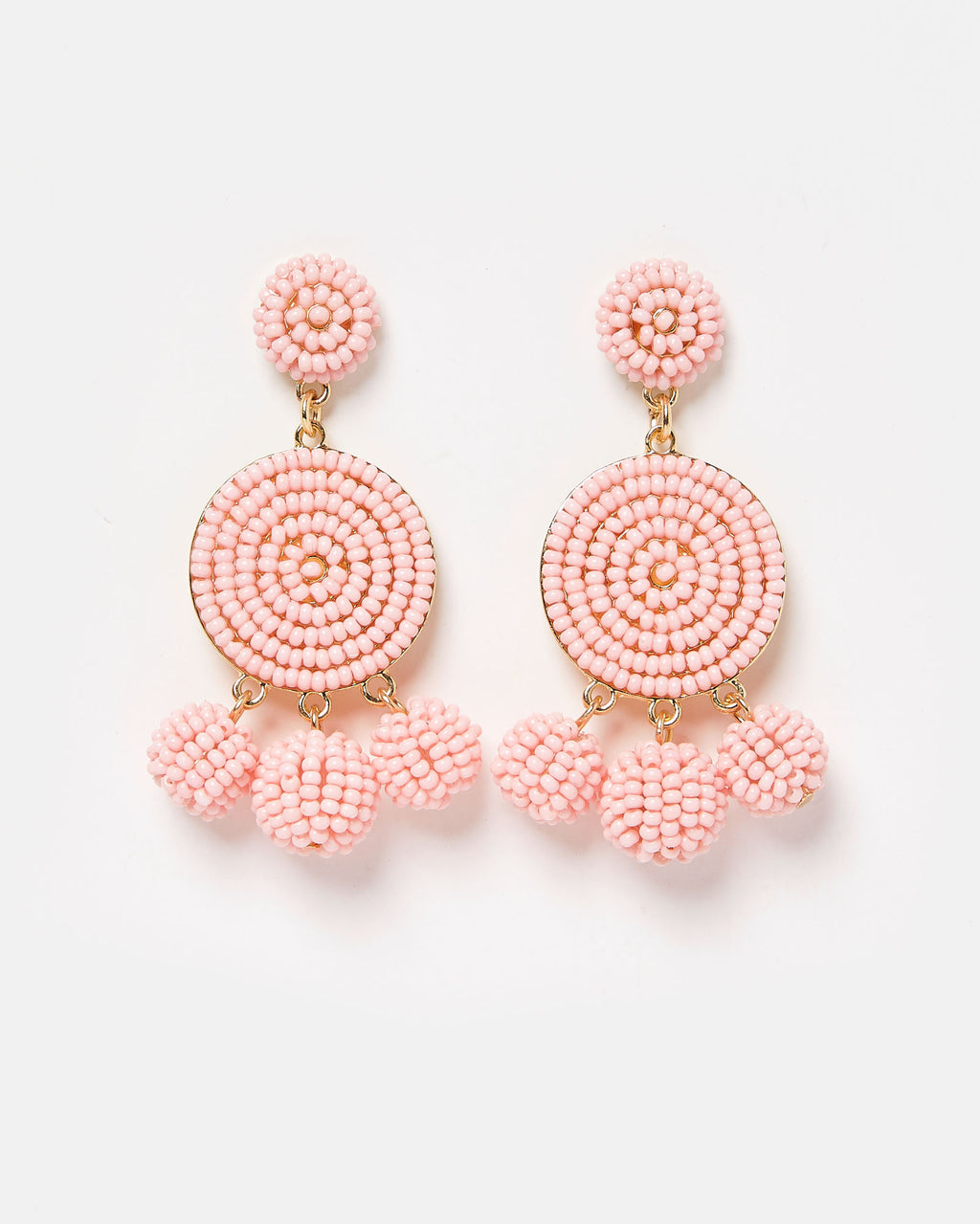 Izoa Sonata Earrings Pink Gold