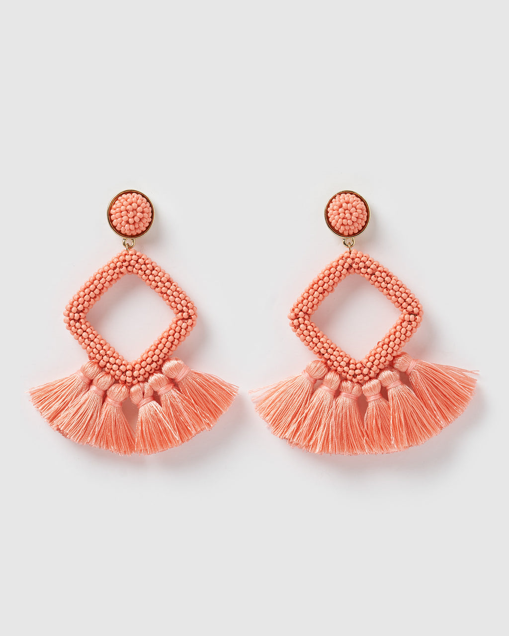 Izoa Soul Earrings Coral