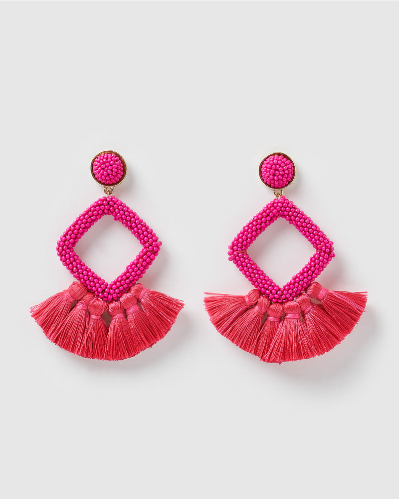Izoa Soul Earrings Hot Pink