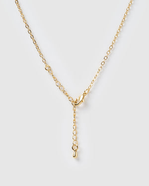 Miz Casa & Co Stone Charm Necklace Gold Garnet