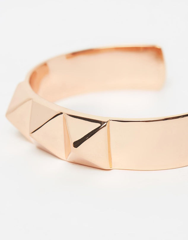 Izoa Studded Cuff Rose Gold