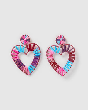 Izoa Studious Earrings Purple Blue