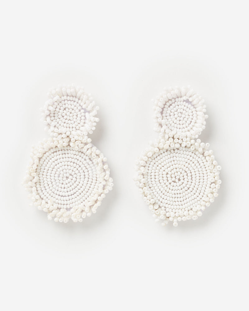 Izoa Sundial Earrings White