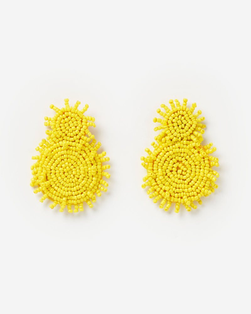 Izoa Sundial Earrings Yellow