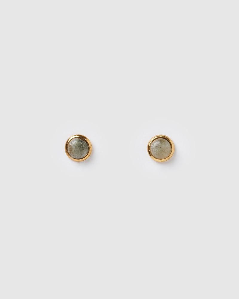 Miz Casa & Co Sunlit Stud Earrings Grey Gold