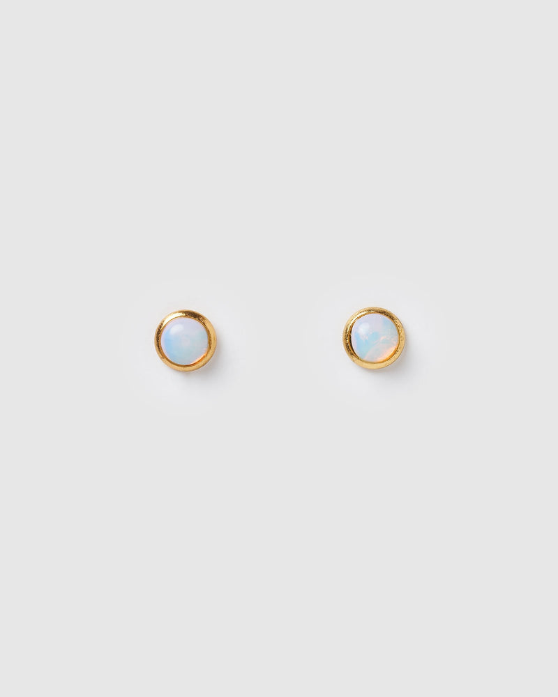 Miz Casa & Co Sunlit Stud Earrings Moonstone Gold