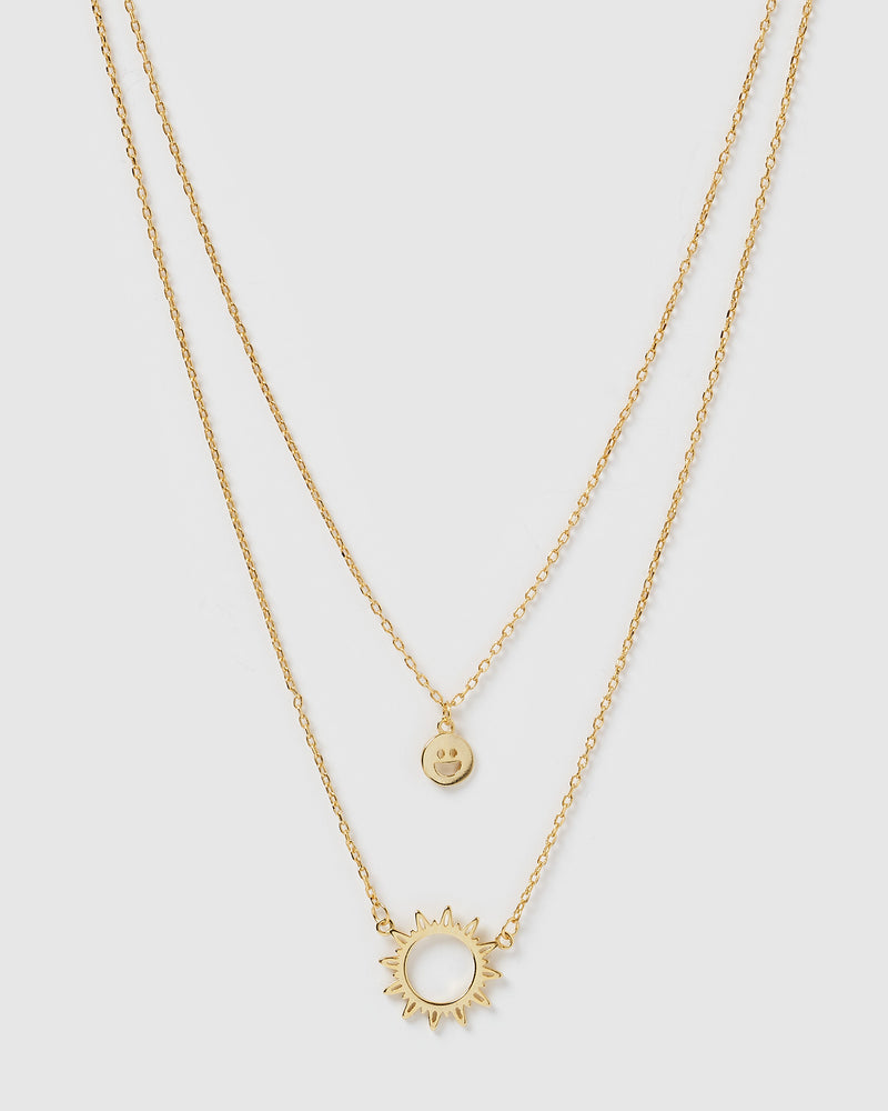 Izoa Sunrays Necklace Gold