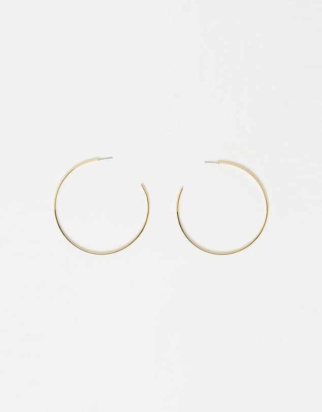 Izoa Super Hoop Earrings Gold