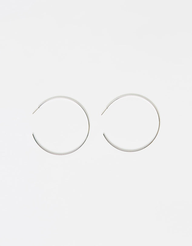 Izoa Super Hoop Earrings Silver