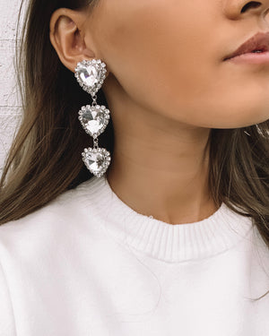 Izoa Secrets Earrings Silver