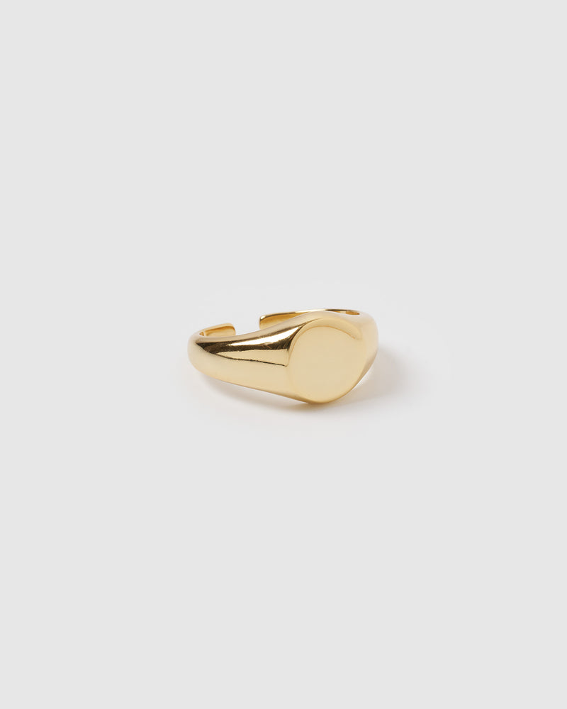 Izoa Signet Ring Gold