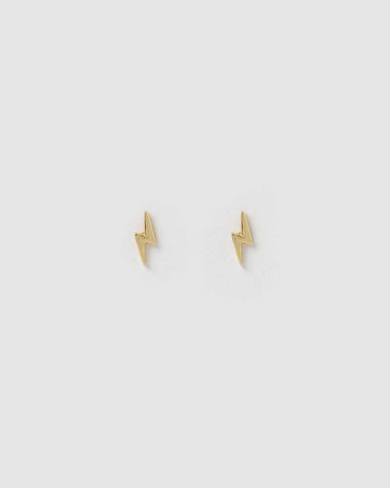 Izoa Spark Stud Earrings Gold