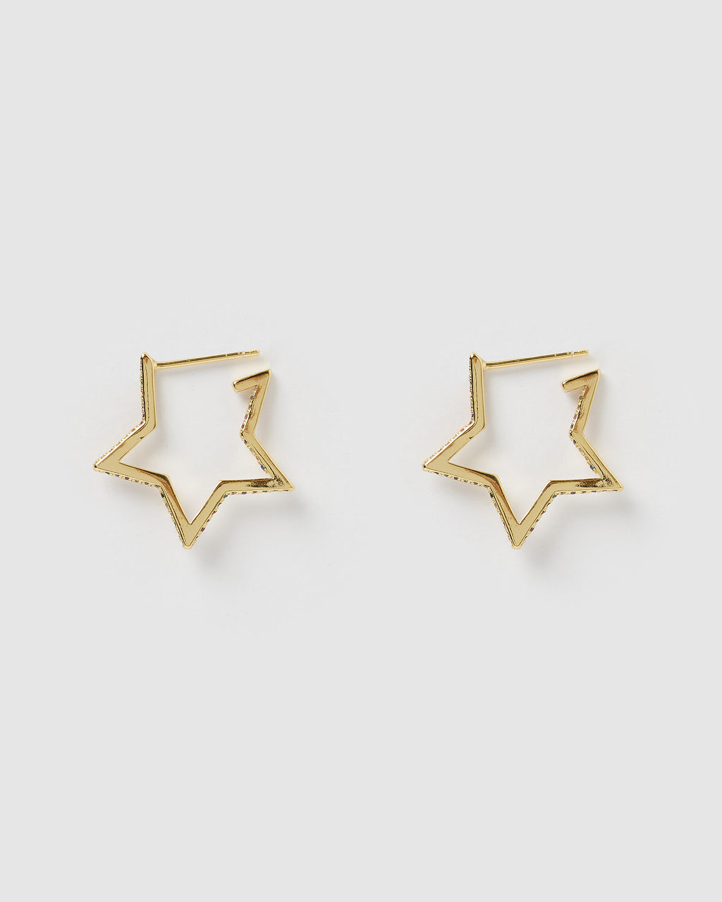 Izoa Supernova Earrings Gold