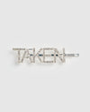 Izoa Taken Hair Pin Silver Clear
