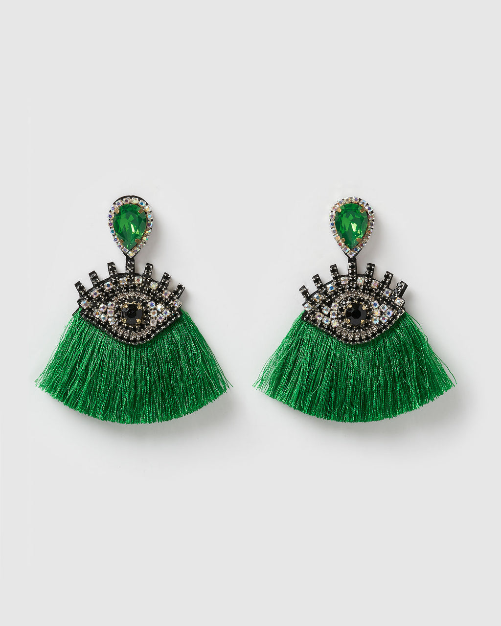 Izoa Take a Glance Earrings Green
