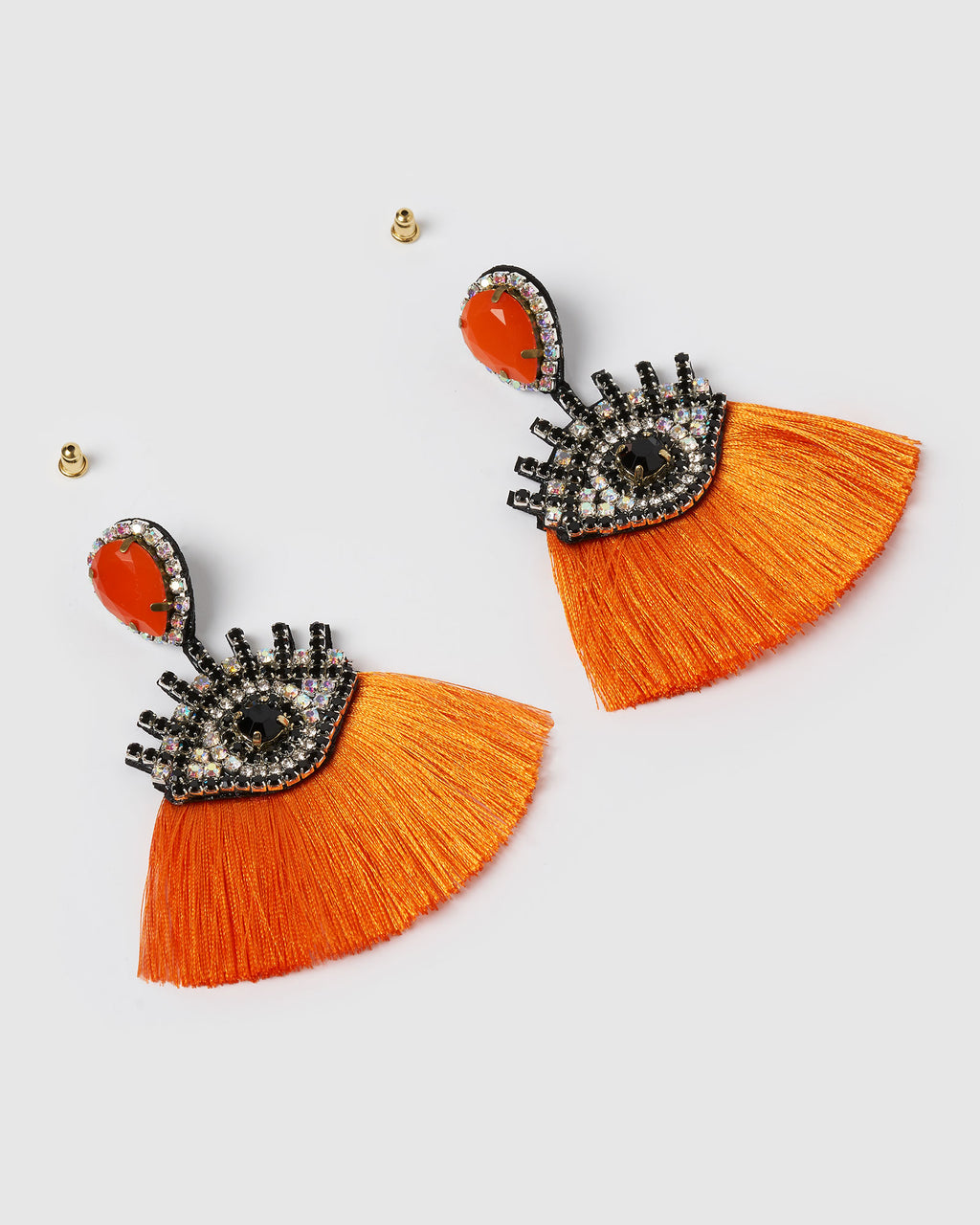 Izoa Take a Glance Earrings Orange
