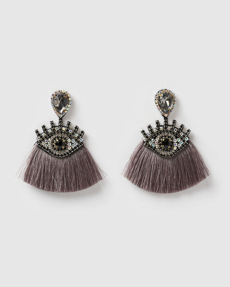 Izoa Take a Glance Earrings Stone