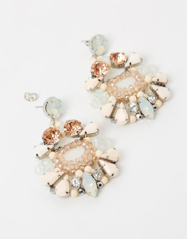Izoa Tam Earrings Nude