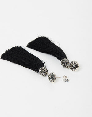 Izoa Tapestry Earring Black