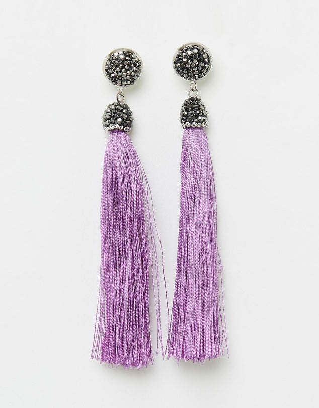 Izoa Tapestry Earring Lilac