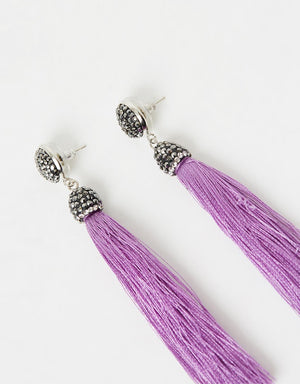 Izoa Tapestry Earrings Lilac