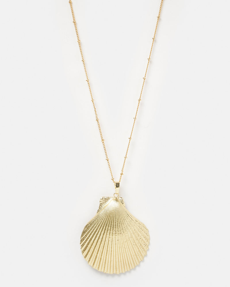 Miz Casa & Co Thalasso Shell Necklace Gold