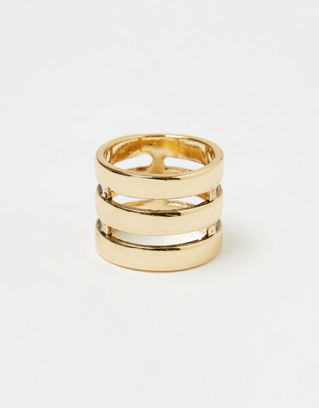 Izoa Three Line Ring Gold