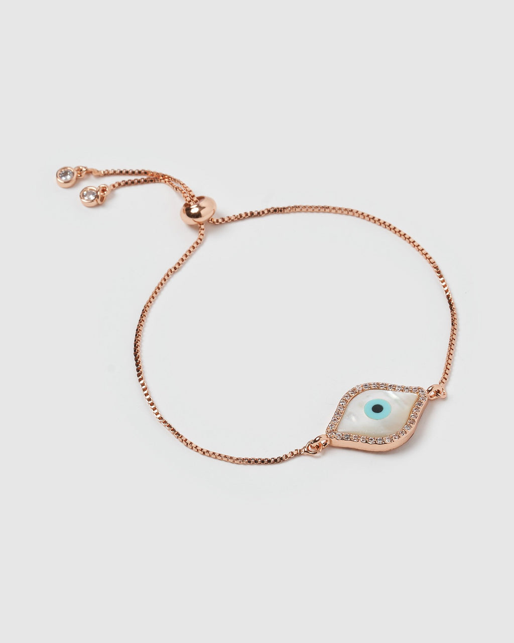 Miz Casa & Co Time Keeper Bracelet Rose Gold Pearl