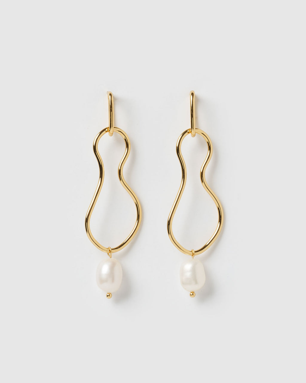 Izoa Tranquility Earrings Gold Freshwater Pearl