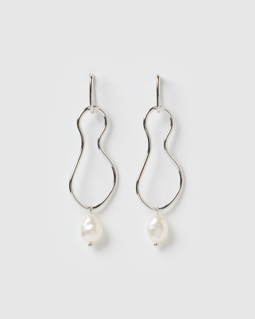 Izoa Tranquility Earrings Silver Freshwater Pearl