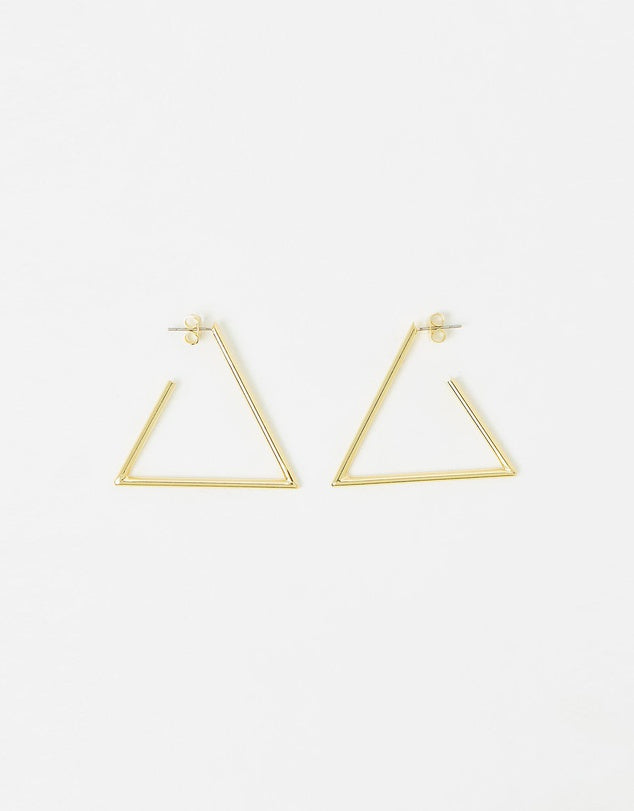 Izoa Triangulate Earrings Gold