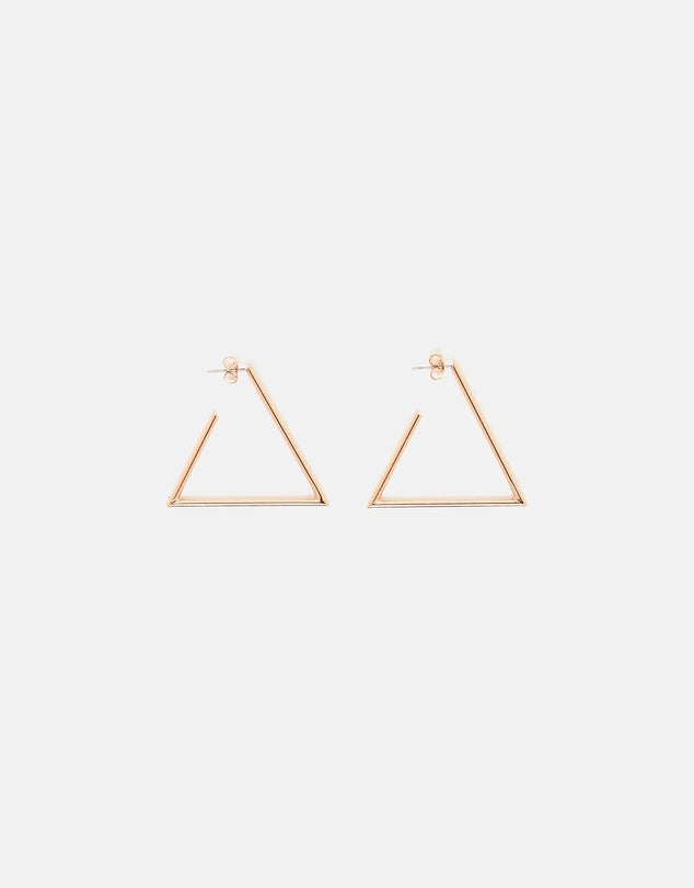 Izoa Triangulate Earrings Rose Gold