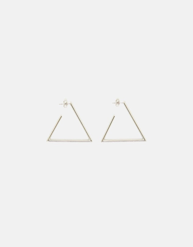 Izoa Triangulate Earrings Silver