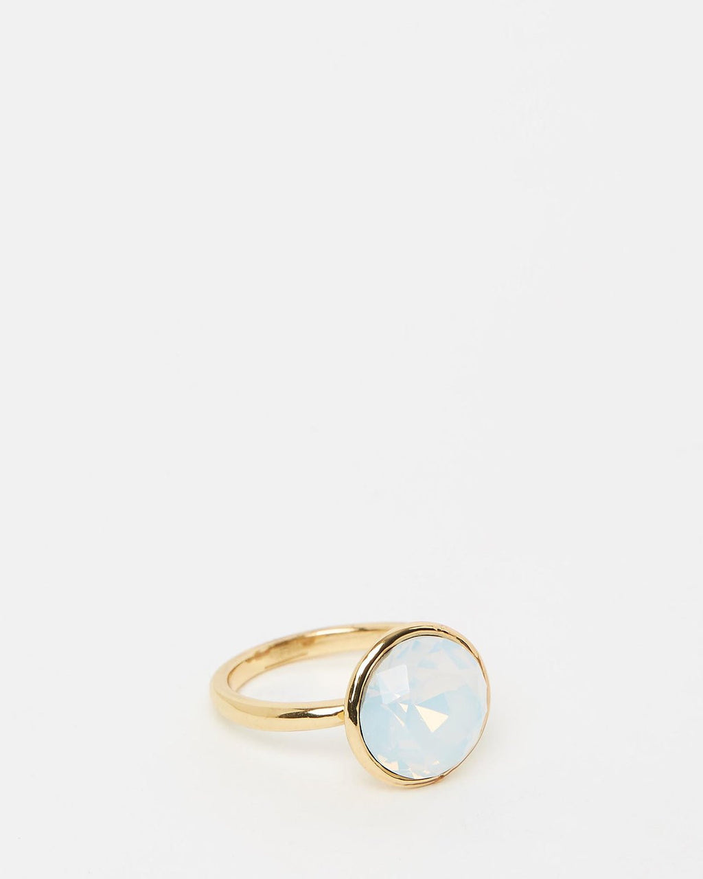 Izoa Triple Trouble Set of Three Ring Gold Opal
