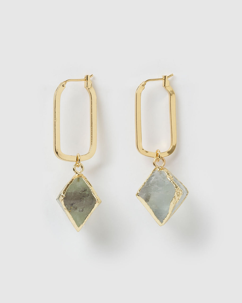 Miz Casa & Co Truth Seeker Earrings Gold Green