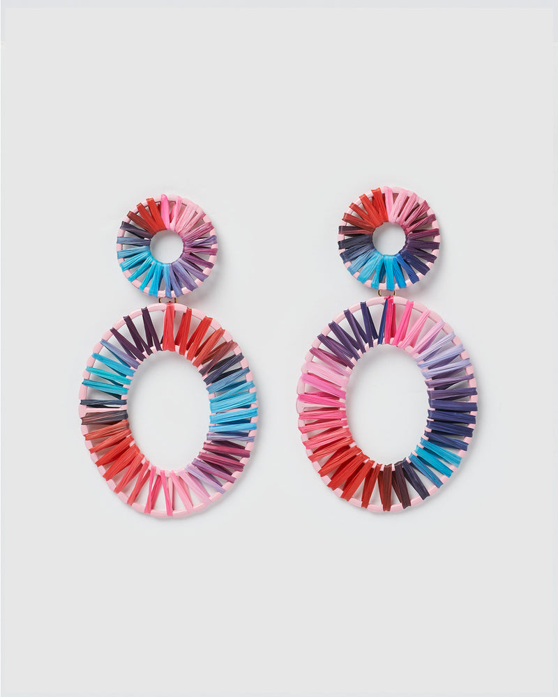 Izoa True Spirit Earrings Pink Blue