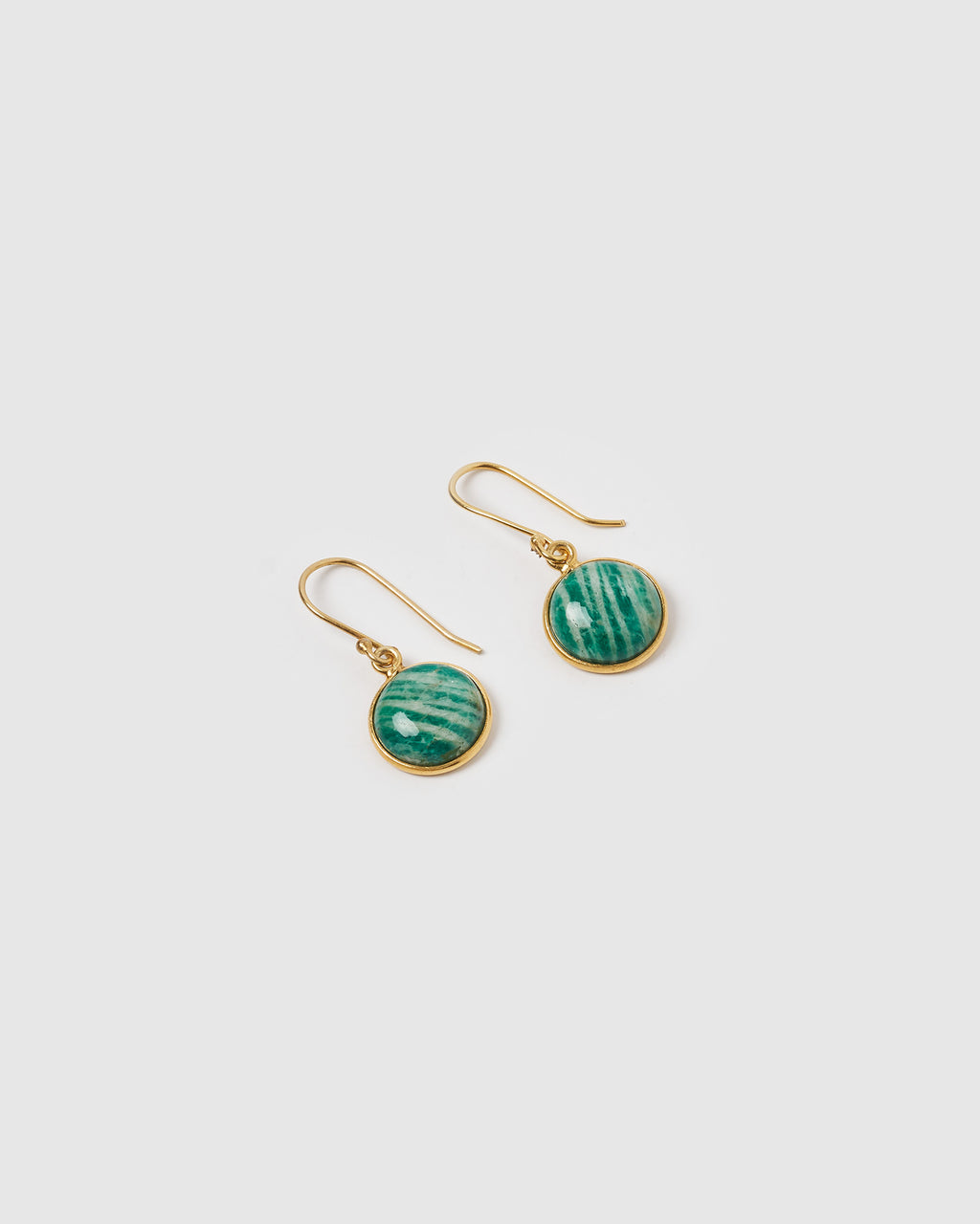 Izoa Truth Earrings Amazonite Gold