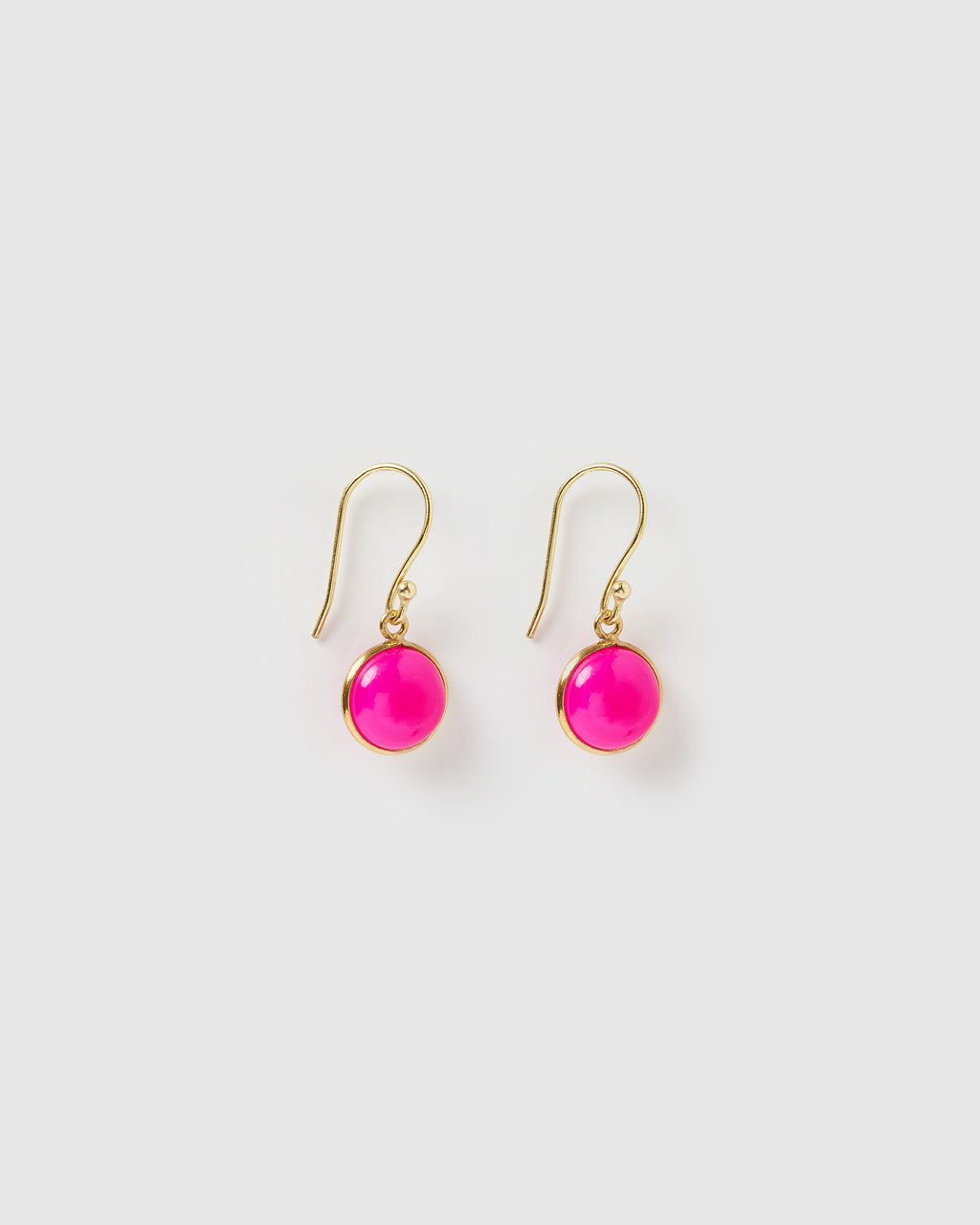 Izoa Truth Earrings Fuchsia Gold