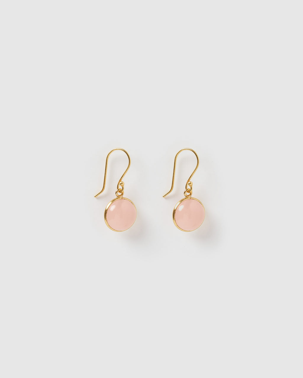 Izoa Truth Earrings Pink Chalcedony Gold