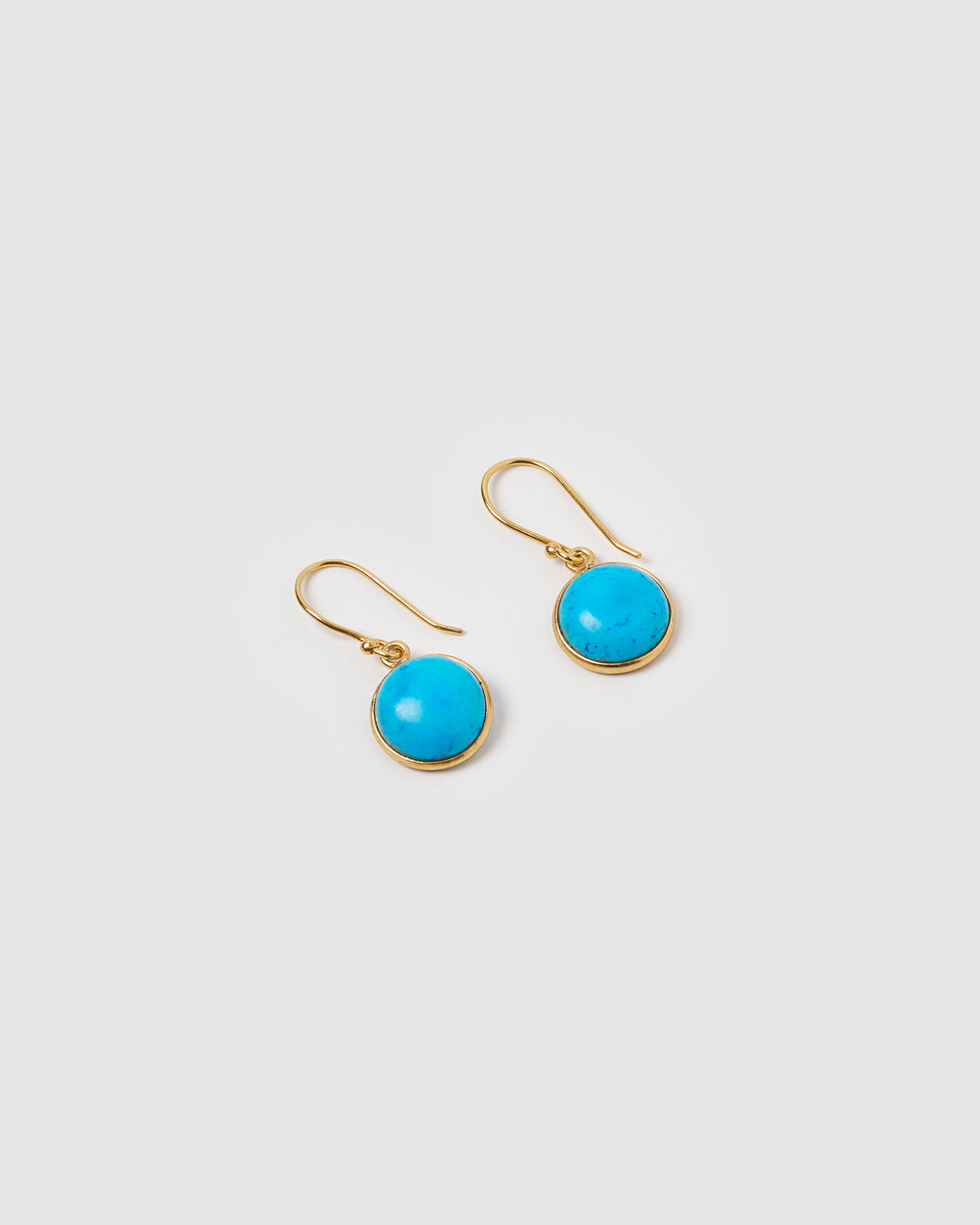 Izoa Truth Earrings Turquoise Gold