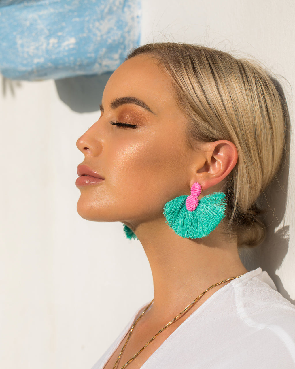 Izoa Underwater Earrings Turquoise Pink